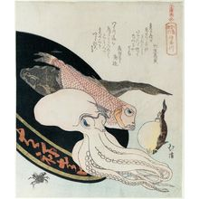 魚屋北渓: Kanagawa, from the series Souvenirs of Enoshima, a Set of Sixteen (Enoshima kikô, jûrokuban tsuzuki) - ボストン美術館