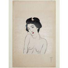 竹久夢二: Bust portrait of nude woman - ボストン美術館