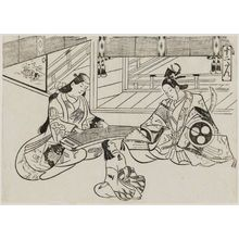 Okumura Masanobu: The Tale of Ushiwakamaru and Jôruri-hime (Jûni-dan), from the series Famous Scenes from Japanese Puppet Plays (Yamato irotake) - Museum of Fine Arts