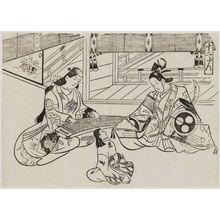 奥村政信: The Tale of Ushiwakamaru and Jôruri-hime (Jûni-dan), from the series Famous Scenes from Japanese Puppet Plays (Yamato irotake) - ボストン美術館