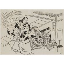 Okumura Masanobu: Courting Komachi, No. 7 (Kayoi Komachi, nana), from the series Famous Scenes from Japanese Puppet Plays (Yamato irotake) - Museum of Fine Arts