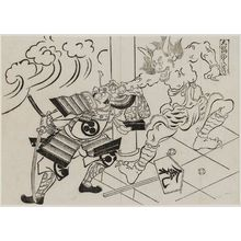 Okumura Masanobu: The Shuten-dôji of Mount Ôe (Ôeyama Shuten-dôji), from the series Famous Scenes from Japanese Puppet Plays (Yamato irotake) - Museum of Fine Arts