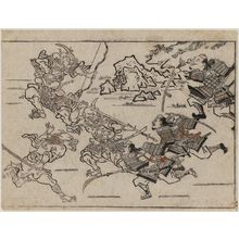 Hishikawa Moronobu: Combat with Demons from the Series The Sake-drinking Boy (Shuten-doji) - Museum of Fine Arts