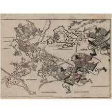 菱川師宣: Combat with Demons from the Series The Sake-drinking Boy (Shuten-doji) - ボストン美術館