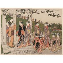 鳥居清長: An Excursion to Mimeguri - ボストン美術館