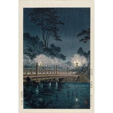 風光礼讃: Benkei Bridge (Benkei-bashi), from the series Views of Tokyo (Tôkyô fûkei) - ボストン美術館