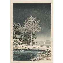 Tsuchiya Koitsu: Suijin no Mori on the Sumida River (Sumidagawa Suijin no mori), from the series Views of Tokyo (Tôkyô fûkei) - Museum of Fine Arts
