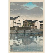 Kawase Hasui: Cloudy Day at Matsue in Izumo Province (Izumo Matsue [kumoribi]), from the series Souvenirs of Travel III (Tabi miyage dai sanshû) - Museum of Fine Arts