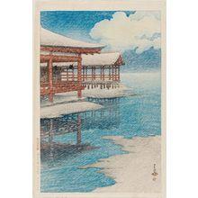 Kawase Hasui: Snow on a Bright Day at Miyajima (Seiten no yuki [Miyajima]), from the series Souvenirs of Travel II (Tabi miyage dai nishû) - Museum of Fine Arts