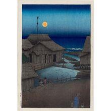 川瀬巴水: The Mishima River in Mutsu Province (Mutsu Mishimagawa), from the series Souvenirs of Travel I (Tabi miyage dai isshû) - ボストン美術館