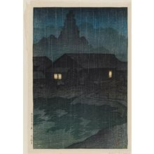 川瀬巴水: Tsuta Hot Springs, Mutsu Province (Mutsu Tsuta onsen), from the series Souvenirs of Travel I (Tabi miyage dai isshû) - ボストン美術館