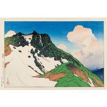 Kawase Hasui: Asahi Peak Seen from Mt. Hakuba (Hakubasan yori mitaru Asahigadake), from the series Souvenirs of Travel III (Tabi miyage dai sanshû) - Museum of Fine Arts