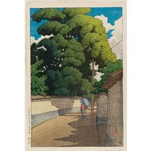 川瀬巴水: Shimohonda-machi, Kanazawa, from the series Souvenirs of Travel II (Tabi miyage dai nishû) - ボストン美術館