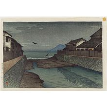 川瀬巴水: The Hori River at Obama (Obama Horikawa), from the series Souvenirs of Travel I (Tabi miyage dai isshû) - ボストン美術館