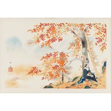 Dômoto Insho: Autumn Maple Leaves at Takao, from the album Eight Views of Kyoto (Kyôto hakkei) - Museum of Fine Arts