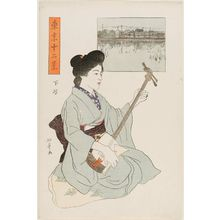 石井柏亭: Shitaya, from the series Twelve Views of Tokyo (Tôkyô jûni kei) - ボストン美術館