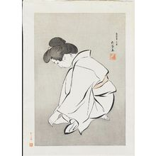Hashiguchi Goyo: Woman Cutting Her Toenails - Museum of Fine Arts