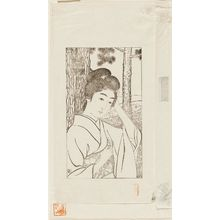 Hashiguchi Goyo: Girl Holding Primrose - Museum of Fine Arts