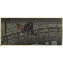 Takahashi Hiroaki: Izumi Bridge in Rain (Izumi-bashi no ame) - Museum of Fine Arts