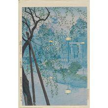 Kasamatsu Shiro: Hazy Evening on the Shore of Shinobazu Pond (Kasumu yûbe–Shinopbazu ikehata) - Museum of Fine Arts