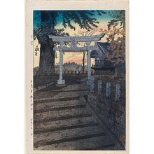 Kasamatsu Shiro: Evening Sky, Suwa Shrine, Nippori (Yuzora, Nippori Suwa Jinja) - Museum of Fine Arts