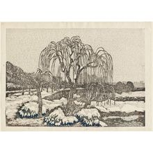 Oda Kazuma: Willows in Snow, Shinobazu - Museum of Fine Arts