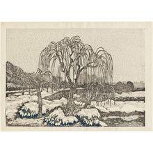 織田一磨: Willows in Snow, Shinobazu - ボストン美術館