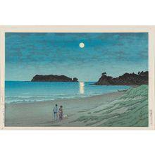 Kawase Hasui: Moonlight at Shichiri-ga-hama, Sagami Province (Sôshû Shichiri-ga-hama) - Museum of Fine Arts
