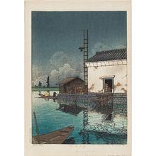 川瀬巴水: Rain at Ushibori (Ame no Ushibori) - ボストン美術館