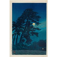 川瀬巴水: Moon at Magome (Magome no tsuki), from the series Twenty Views of Tokyo (Tôkyô nijûkei ) - ボストン美術館