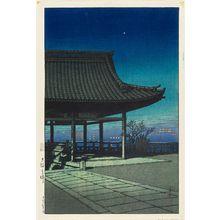 川瀬巴水: View from Takatsu in Osaka (Ôsaka Takatsu), from the series Souvenirs of Travel III (Tabi miyage dai sanshû) - ボストン美術館