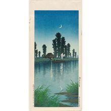 川瀬巴水: Evening at Itako (Itako no yûgure) - ボストン美術館