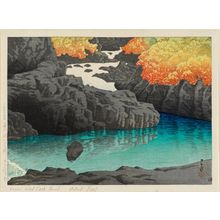 Kawase Hasui: The Kayagafuchi Rapids in Nagato Gorge (Nagato-kyô Kayagafuchi), from the series Selected Views of Japan (Nihon fûkei senshû) - Museum of Fine Arts