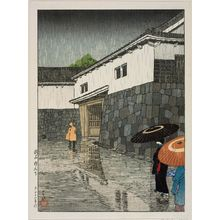 川瀬巴水: Uchiyamashita, Okayama, from the series Selected Scenes of Japan (Nihon fûkei senshû) - ボストン美術館