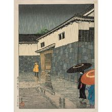 川瀬巴水: Uchiyamashita, Okayama, from the series Selected Views of Japan (Nihon fûkei senshû) - ボストン美術館