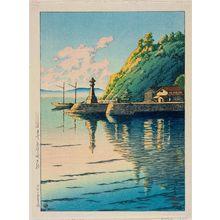 川瀬巴水: Dawn at Mihogaseki in Izumo Province (Izumo Mihogaseki no asa), from the series Selected Views of Japan (Nihon fûkei senshû) - ボストン美術館