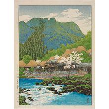 川瀬巴水: Anraku Hot Springs, Ôsumi (Ôsumi Anraku onsen), from the series Selected Views of Japan (Nihon fûkei senshû) - ボストン美術館