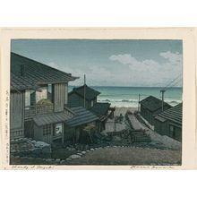 Kawase Hasui: Cloudy Day at Mizuki in Ibaraki Prefecture (Mizuki no kumoribi [Ibaraki-ken]) - Museum of Fine Arts