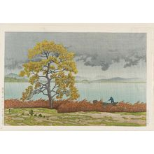 Kawase Hasui: Lakeside Shower at Matsue (Kohan no ame [Matsue]) - Museum of Fine Arts