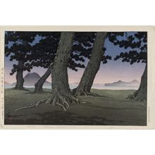 Kawase Hasui: The Beach at Kaiganji in Sanuki Province (Sanuki Kaiganji no hama), from the series Collected Views of Japan II, Kansai Edition (Nihon fûkei shû II Kansai hen) - Museum of Fine Arts