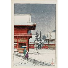 Kawase Hasui: Snow at the Nezu Gongen Shrine in Tokyo (Nezu Gongen no yuki) - Museum of Fine Arts