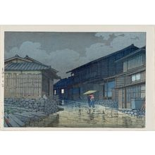 川瀬巴水: Nissaka on the Tôkaidô Road (Tôkaidô Nissaka), from the series Selected Views of the Tôkaidô Road (Tôkaidô fûkei senshû) - ボストン美術館