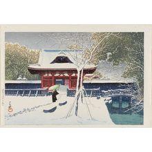 川瀬巴水: Snow at Shiba Park, Tokyo (Shiba kôen no yuki) - ボストン美術館