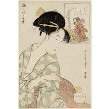 喜多川歌麿: The Story of Umegae (Umegae ga kotoba) - ボストン美術館