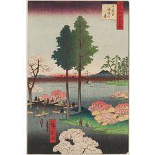 歌川広重: Suwa Bluff, Nippori (Nippori, Suwanodai), from the series One Hundred Famous Views of Edo (Meisho Edo hyakkei) - ボストン美術館