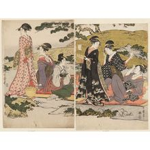 Kitagawa Utamaro: Women's Picnic beside a Stream - Museum of Fine Arts