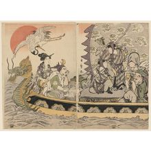 Kitagawa Utamaro: The Seven Gods of Good Fortune in the Treasure Boat - Museum of Fine Arts