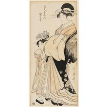 Kitagawa Utamaro: Hitomoto of the Daimonjiya - Museum of Fine Arts