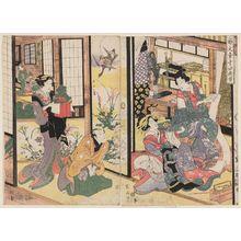 菊川英山: Kuruwa bunshô Yoshidaya no zu - ボストン美術館