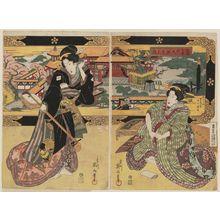 Kikugawa Eizan: Tsukiji Dazaifu Tenmangû no zu - Museum of Fine Arts